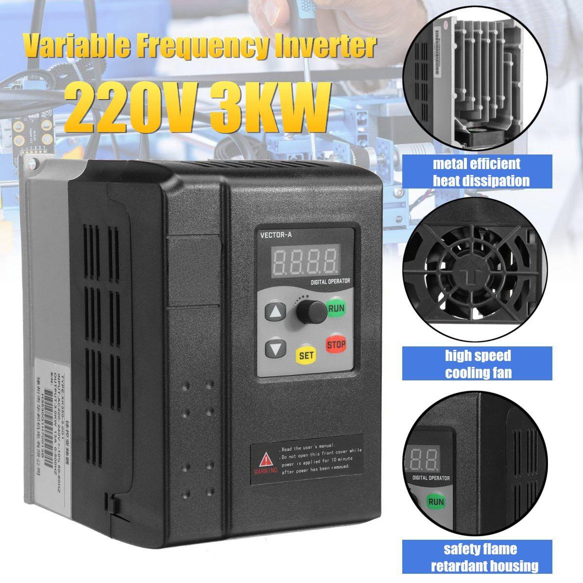 220 V 3KW A Frequenza Variabile Inverter 1 fase di ingresso 3 fase di uscita Per AC CNC Unità di controllo del motore in Vector regolatore di velocità