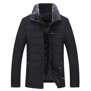 Image 5 - Parka épaisse matelassée en coton pour hommes, veste dhiver classique pour hommes, veste longue matelassée en polaire, vêtements décontracté