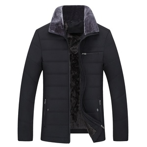 Image 5 - Thick Jacket Quilted Business Cotton Warm Parka Winter Men Casual Male Classic Windbreaker Long Fleece Lined Padded Coat Clothes