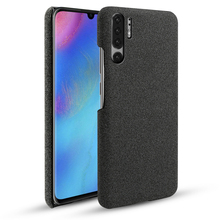 For Huawei P30 P30 Lite P30 Pro Case Slim Retro Fabric Woven Cloth Anti-Scratch Hard Plastic Back Cover For Huawei P30 Pro Coque retro women strappy beaded woven floral print anti slip cloth shoes woman gift