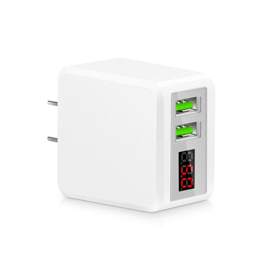 Multi USB Ports Charge Led Display General Travel AC Adapter for Mobile Charger Casual LED screen display Phone