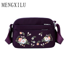 Bags for Women 2019 Nylon Crossbody Waterproof Female Messenger Bag Embroidery Shoulder Small Fashion