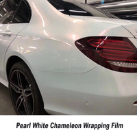 Car color change film Chameleon film White to red Vinyl white chameleon Wrap Pearl Car Stickers Bubble Air Free 5ft X 65ft/Roll