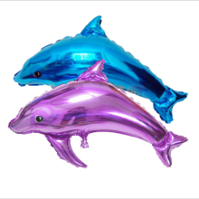 1pc Babyshower Dolphin Balloons Cartoon Amnimal Aluminium Foil  Ballon Happy Birthday Balloon Party Decorations Adult