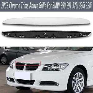 2pcs ABS Hood R & L Chrome Tri