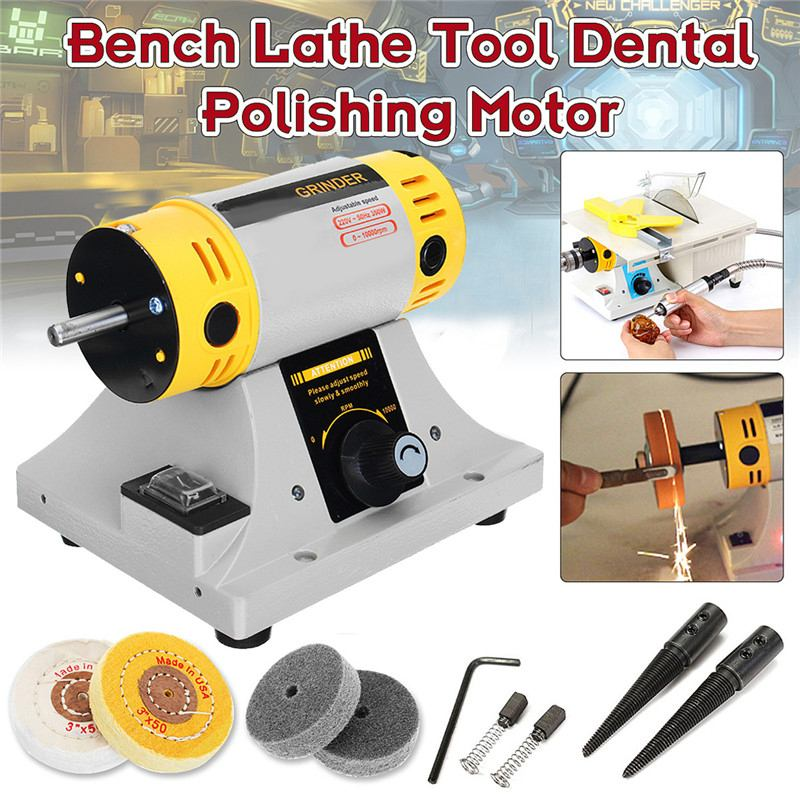 350W Adjustable Speed Mini Polishing Machine For Jewelry Motor Tool Lathe Bench Grinder Kit  US/EU Plug Polisher
