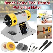 350W Adjustable Speed Mini Polishing Machine For Jewelry Motor Tool Lathe Bench Grinder Kit US/EU Plug Polisher(China)