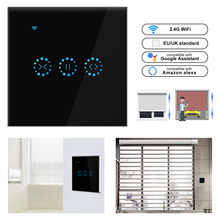 Ewelink WiFi Electrical Blinds Switch Touch APP Voice Control by Alexa Echo AC110 to 250V for Mechanical Limit Blinds Motor