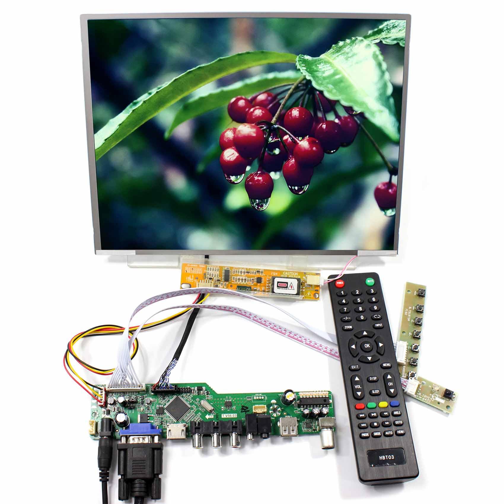 "Display Control HDMI VGA AV USB Board LCD Controller Board With 12.1"" LTN121XT LCD Display 1024x768"
