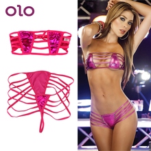 OLO 2 piece/set Bra +G-String Sexual Clothing Sexy Lingerie Sexy Set Exotic Apparel