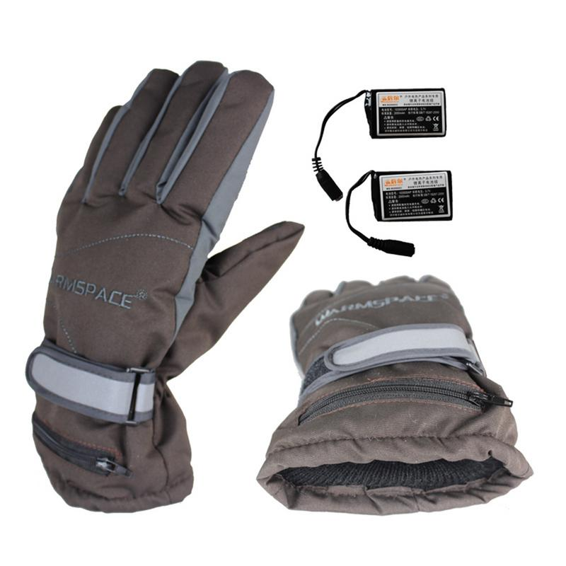 2019 Men's Gloves Heating Gloves Rechargeable Warm Gloves 4 Hours Heating Windproof Waterproof Unisex Ski Gloves