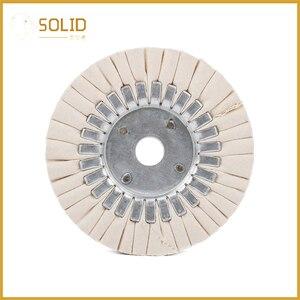 Image 2 - 6 zoll Baumwolle Atemwege Polieren Tuch Rad Polier Pad 20mm Bohrung für eine Spiegel Finish auf Aluminium Und Edelstahl polieren Werkzeug