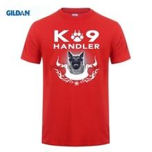 GILDAN 100% Cotton O-neck custom printed T-shirt K9 Handler Flag TShirt gildan living in america argentine roots argentina flag shirt