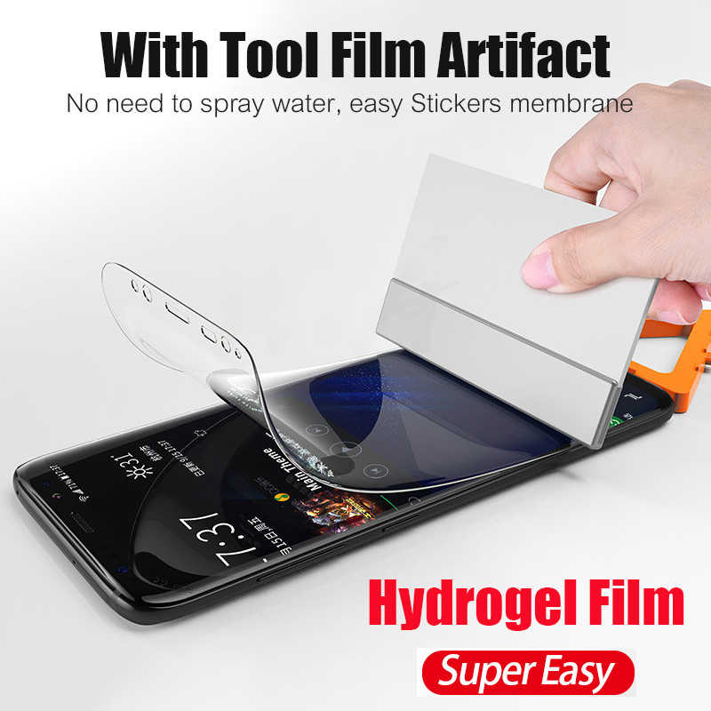 Soft Hydrogel Film For Samsung S10 S9 S8 Plus 5G A8 S7 Edge Full Cover Screen Protector For Galaxy Note 10 9 8 Plus Not Glass
