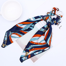 Retro Silk Scarf Hair Ring New Rope Mawei Accessories Foreign Trade Wholesale