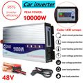 Inverter 12 V/24 V/48 V 220 V 5000 W 10000 W Peaks Modifizierte Sinus Welle Power spannung transformator Inverter Konverter + LCD display