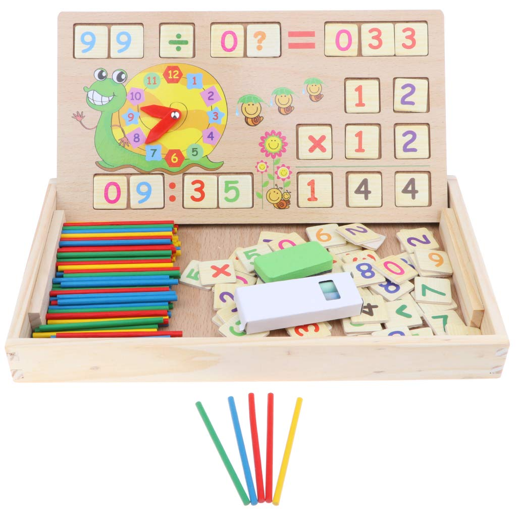Montessori Mathematical Materials Counting Sticks Blackboard Clock Early Learning Educational Toys Gift for Children Kids