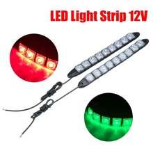 2Pcs/Set 12V LED Signal Navigation Light Strip Waterproof Port Starboard Marine Boat Car Auto Signal Navigation Light Strip New