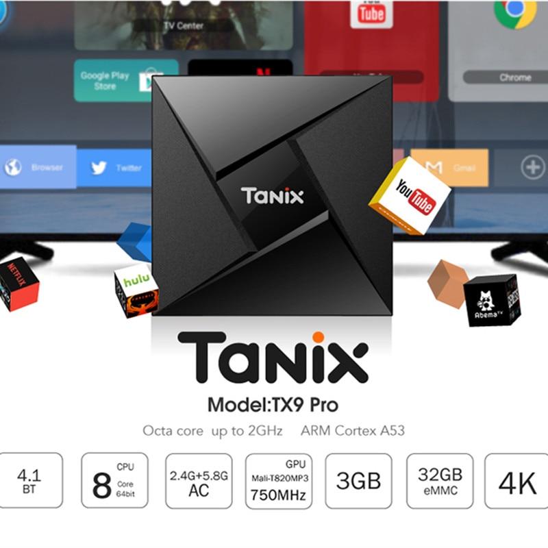 TX9 Pro TV Box Android 7.1 OS 3G RAM 32G ROM Amlogic S912 2.0GHz Octa Core BT4.1 1000M LAN Media Player PK X96mini Set Top Box tanix tx9 pro tv box amlogic s912 octa core cpu android 7 1 os 4k smart tvbox 1000m lan 3g ram 32g rom 5 8g wifi media player