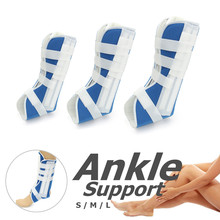Adjustable Night Splint Foot Ankle Brace Plantar Fracture Recovery Injured Protector Sprain Support L/M/S 4 Sticker Strap Design