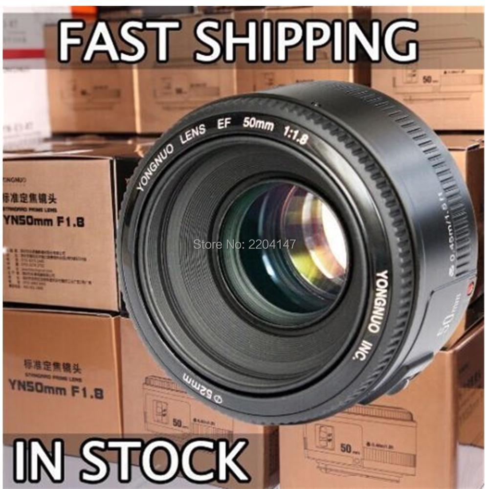 Objectif YONGNUO YN50mm f1.8 YN EF 50mm f/1.8 AF objectif YN50 mise au point automatique d'ouverture pour Canon EOS 60D 70D 5D2 5D3 600d appareils photo reflex numériques Canon