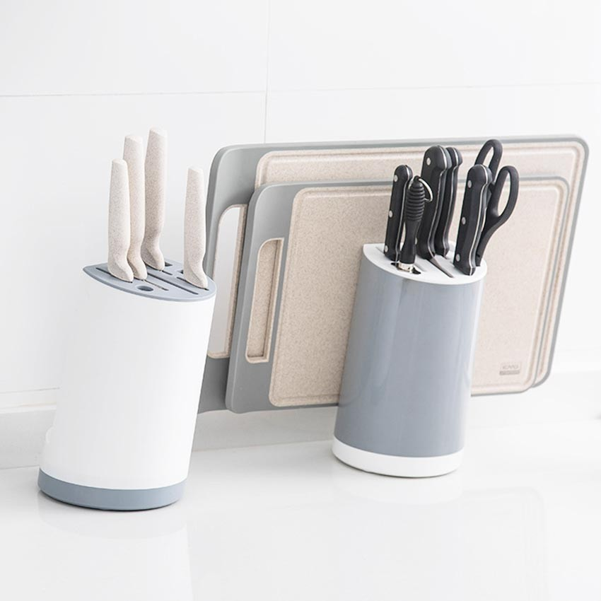 Plastic Kitchen Knife Holder Tool Storage Knife Holder Cutting Board Kitchen Knife Holder