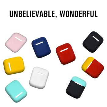 Silicone Double Cap Wireless Bluetooth Headphones Protective Case Dust-proof Anti-impact Soft Shell Cover Case For Apple Airpods