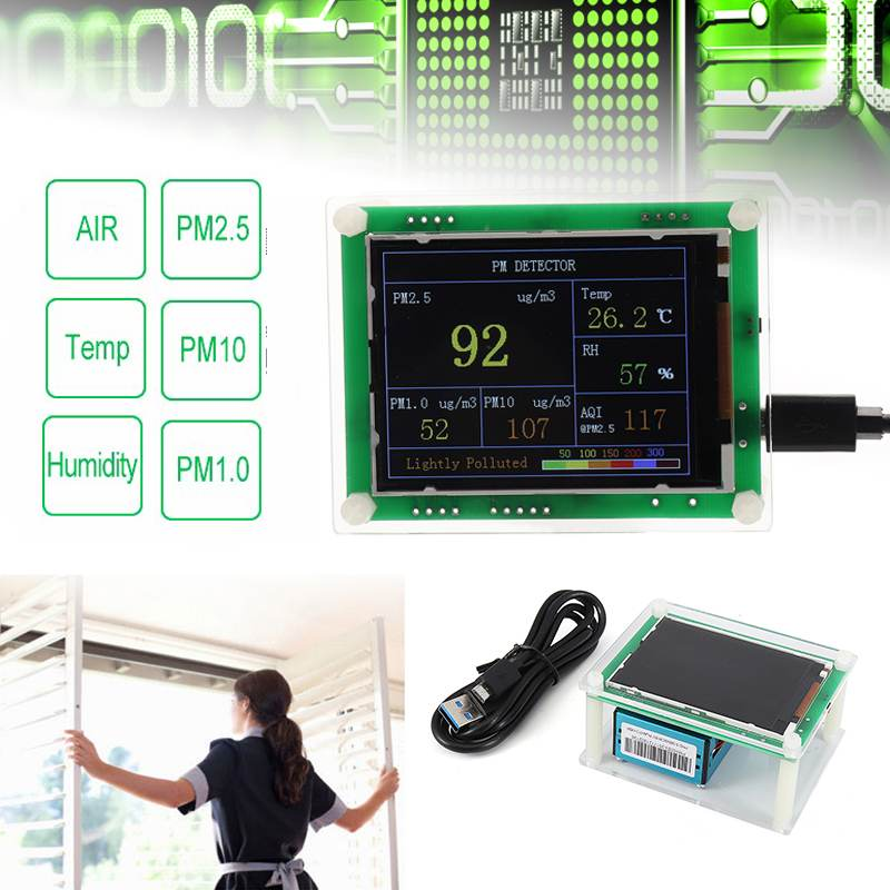 2.8 TFT Household PM2.5 Detector Module Air Quality Dust Sensor TFT LCD Display Monitor For ARM 32 Bit Chips for Home/Office
