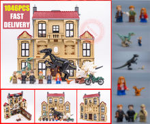 Новый 1046 шт. динозавр Indoraptor Rampage Lockwood Estate fit legoings динозавр Юрского периода городской парк Building Block игрушечные лошадки 75930(China)
