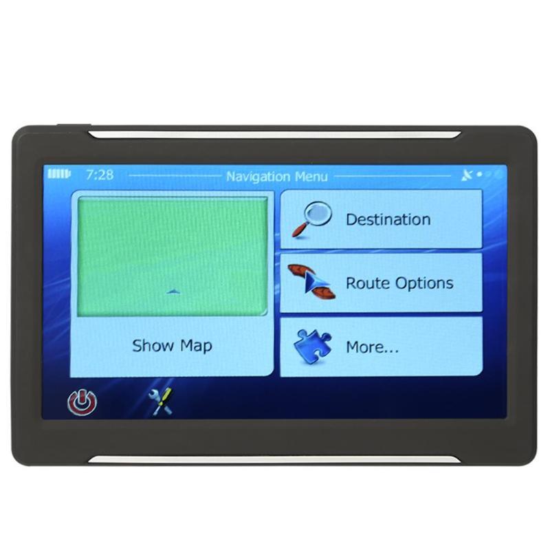 T600 Portable 7 inch Touch Screen Car GPS Navi 256MB 8GB GPS Navigator Map ABS Black