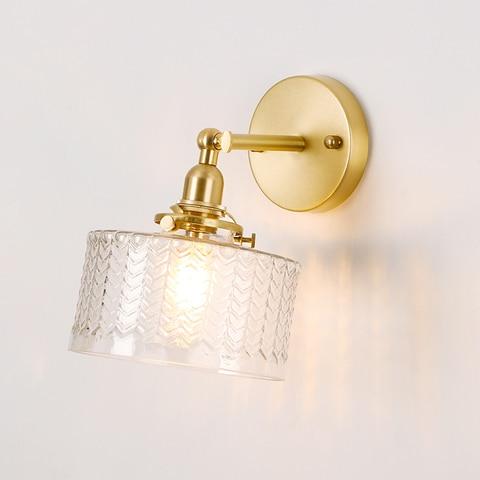 el bronze lampada de parede com ondulacoes forma vidro angulo rotacao 270 graus para cima