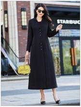 Winter Women Wool Coat Jacket 2018 High Quality Longer Korean Womens Woolen Coats Jackets Black