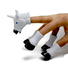 Unicorn Finger Toy Cute Animal Telling Finger Puppet Baby Favor Dolls Educational Toys For Children(China)