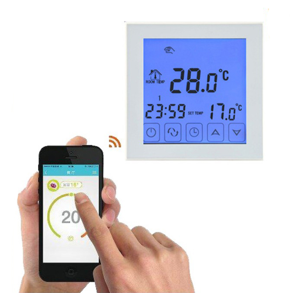 Home Office Indoor Smart Wifi Programmable Digital Touch Screen