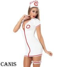 Для женщин сексуальное нижнее белье, медсестра, выступления Униформа необычная Косплэй наряд, комплект нижнего белья с точки зрения