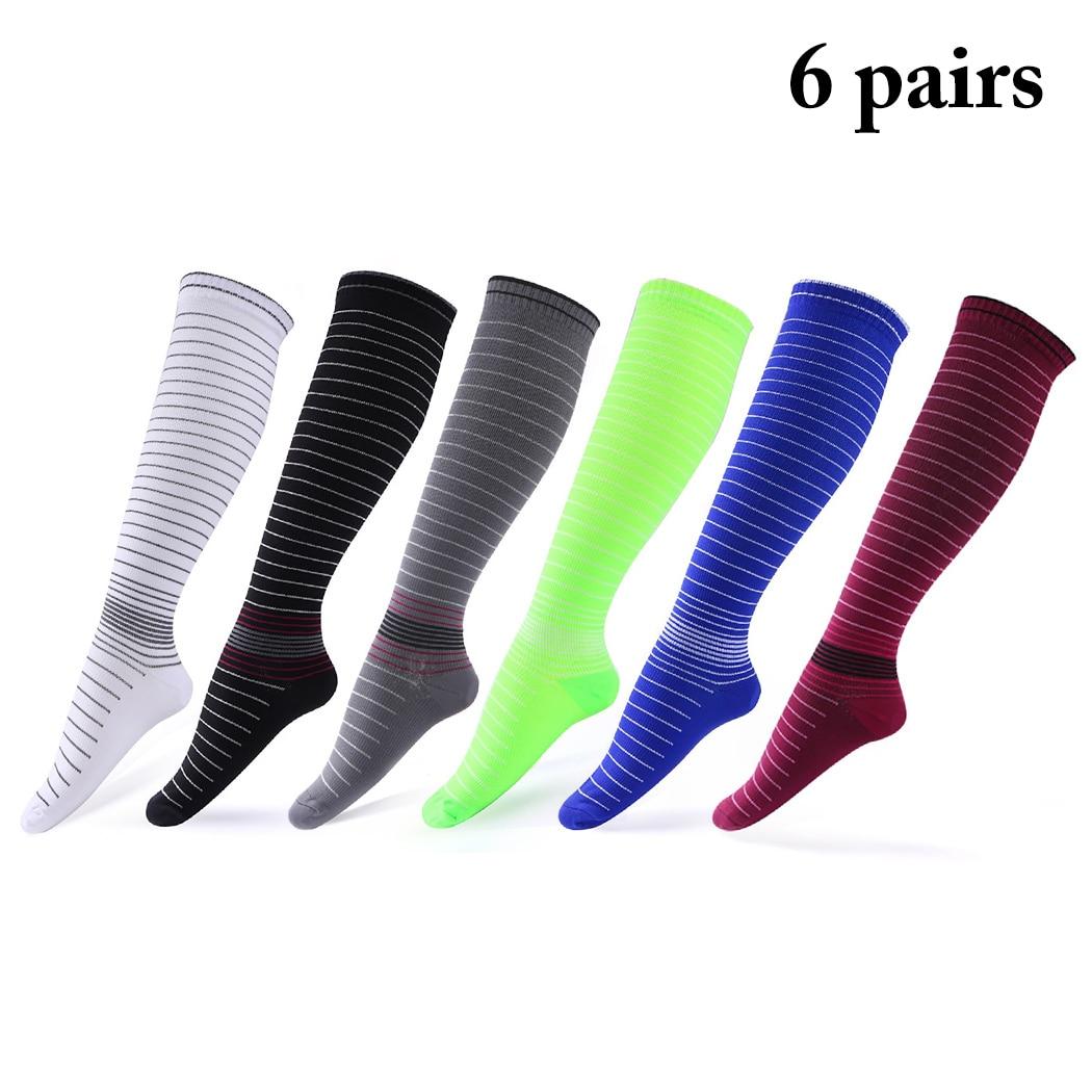 @1  6 пар компрессионные носки эластичные повседневные гольфы спортивные носки мужчины бег йога носки 6  ✔