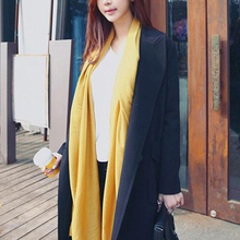 Autumn And Winter SoftCotton Linen Scarf Hot  Ladies Monochrome Cotton Summer Beach Shawl Retro Solid Color