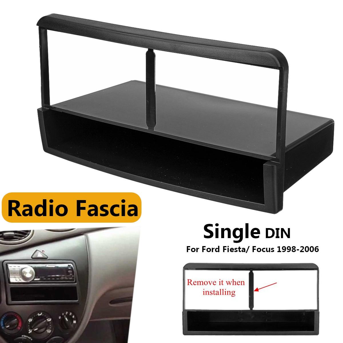 1 דין רכב סטריאו רדיו DVD Fascia פנל צלחת מסגרת פנל אודיו דאש הר ערכת מתאם עבור פורד לפיאסטה לפוקוס 1998-2006