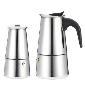 Image 3 - 200/450ml portátil máquina de café expresso moka pote aço inoxidável com fogão elétrico filtro percolador cafeteira chaleira pote