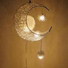 Lâmpadas de teto modernas, lustre de teto, estrela, lua, lâmpada suspensa, decorações natalinas, para crianças, iluminação doméstica