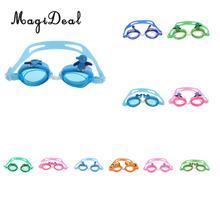 a45166999 MagiDeal Natação Óculos Anti-fog Proteção UV Silicone Macio Criança Bonito  Dos Desenhos Animados óculos de Natação Ajustável par.