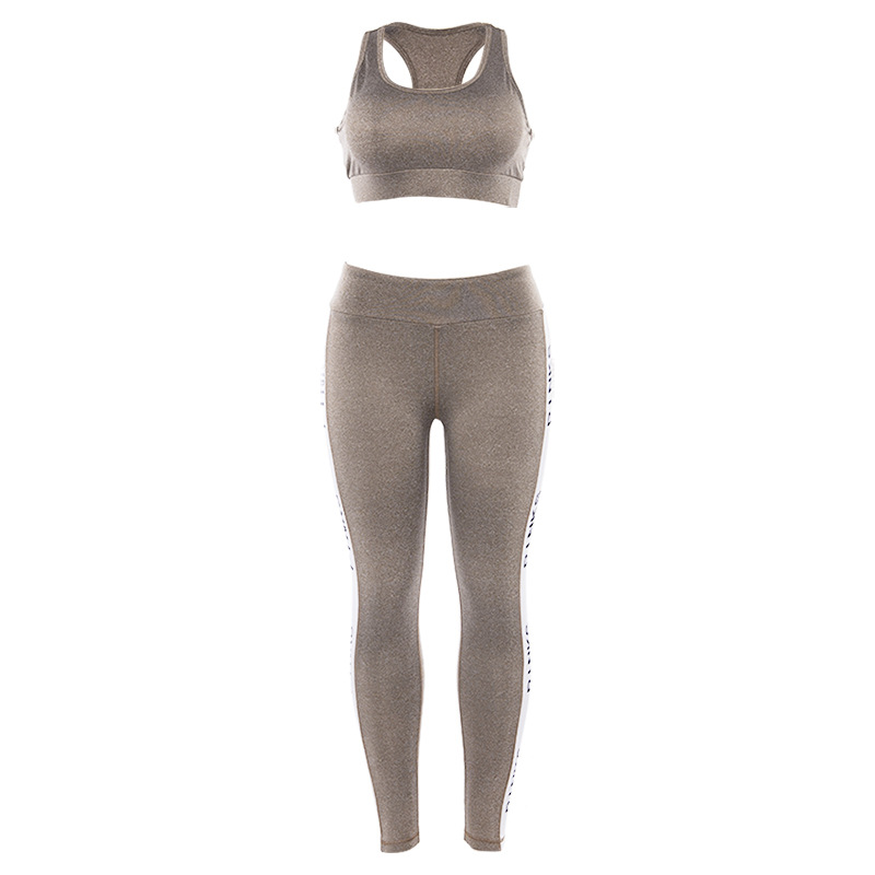 New Solid Color Fitness Sport Suits Women 39 s Yoga Clothing Set Workout Sportswear Female Tracksuits Athletic Running Clothes in Yoga Sets from Sports amp Entertainment