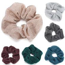 Women Elastic Hair Bands Glitter Scrunchie Gum Ladies Ponytail Bun Ties Rope Headwear