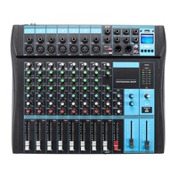 8 Channel Microphone Sound Digital Mixer Mixing Console with bluetooth Professional Karaoke DJ Audio Mixer 48V Phantom Power USB