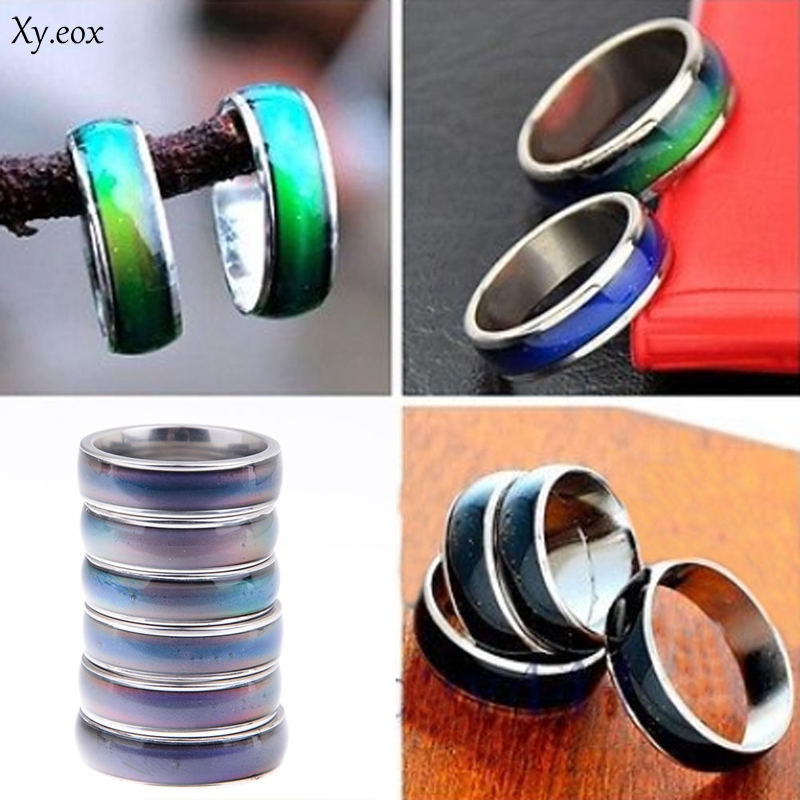 1pc Amazing Mood Ring Emotion Feeling Color Change Adjustable Ring Jewelry Gift