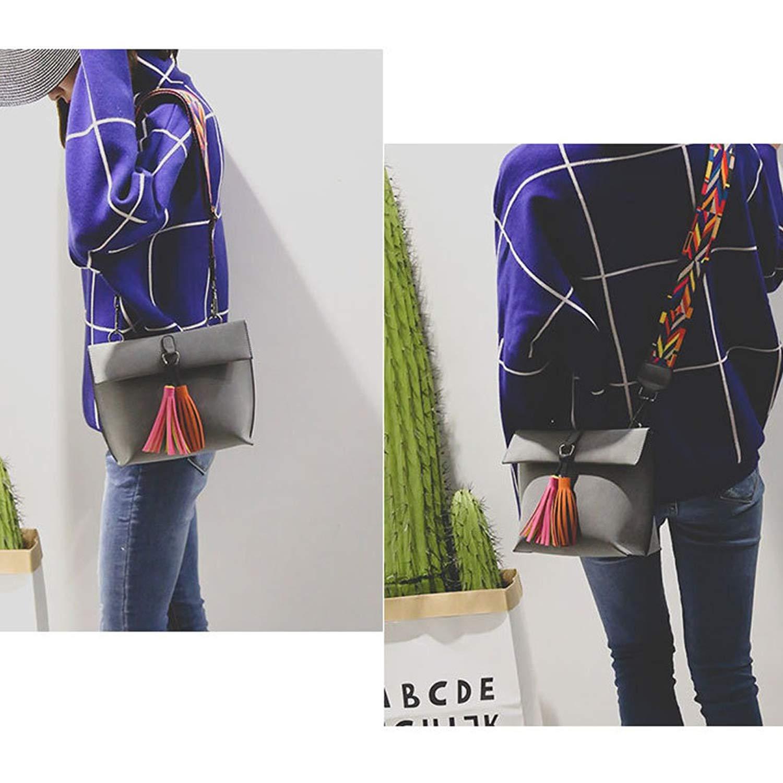 Для женщин девочек мини сумка через плечо замши как кисточкой Хобо сумки на ремне с красочными широкий ремень