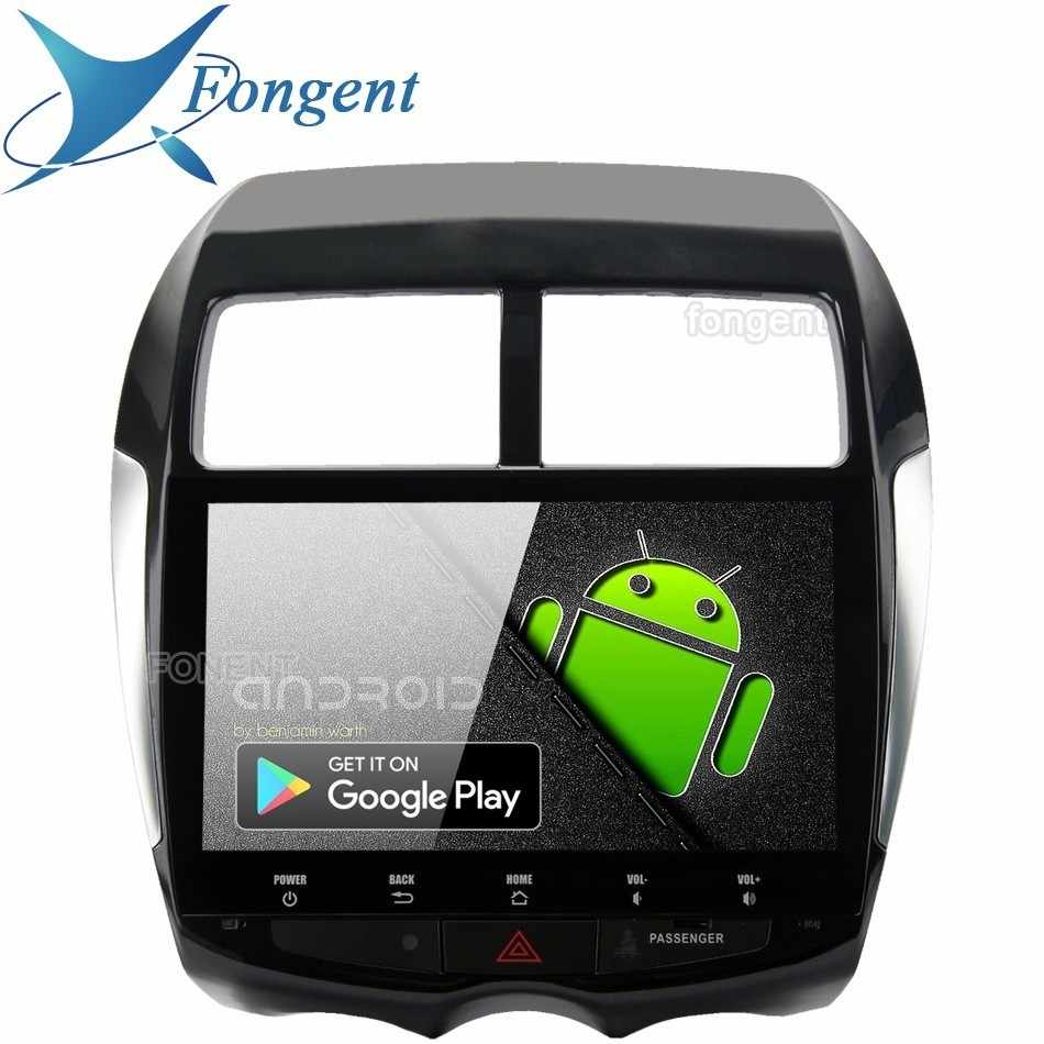 "Android 9.0 octa core 64 gb px6 gps multimídia player de rádio 10.2 ""tela hd ips para mitsubishi asx 2010 2011 2012 2013 2014 2015"