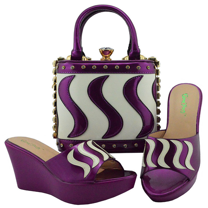 Fuchsia Pumps md005 African Women Shoes And Bag Set With Rhinestones Pumps Italian Shoes With Matching Bag For Evening Party цены