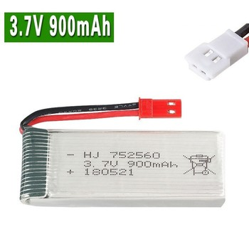3.7V 900mah lipo Battery For X5 X5C X5SC X5SW 8807 8807W A6 A6W Rc Quadcopter Spare Parts Accessories 3.7v Drones battery 752560 image