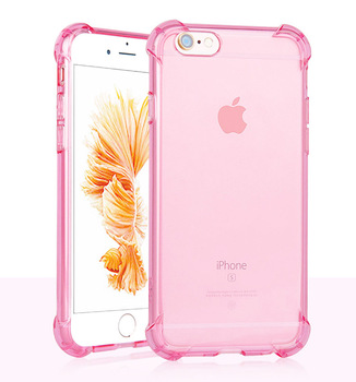 Soft Silicone Transparent Bumper Phone Case For iPhone SE 2020 X XS 6S 8 Plus Cover